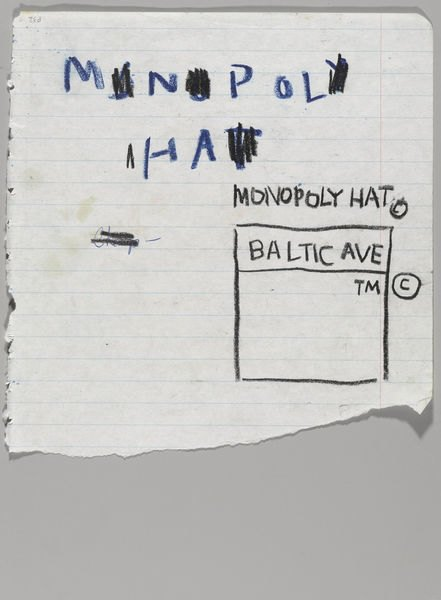 В музее Бруклина выставили скетчбуки Баския. Изображение № 8.