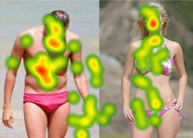 Айтрекеры показали, на какие части тела мы смотрим в первую очередь. Изображение № 6.
