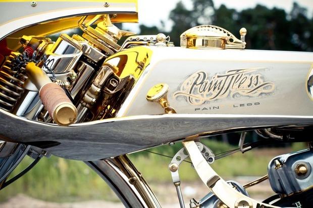 Мотоцикл немецкой мастерской Thunderbike победил в чемпионате мира по кастомайзингу. Изображение № 8.