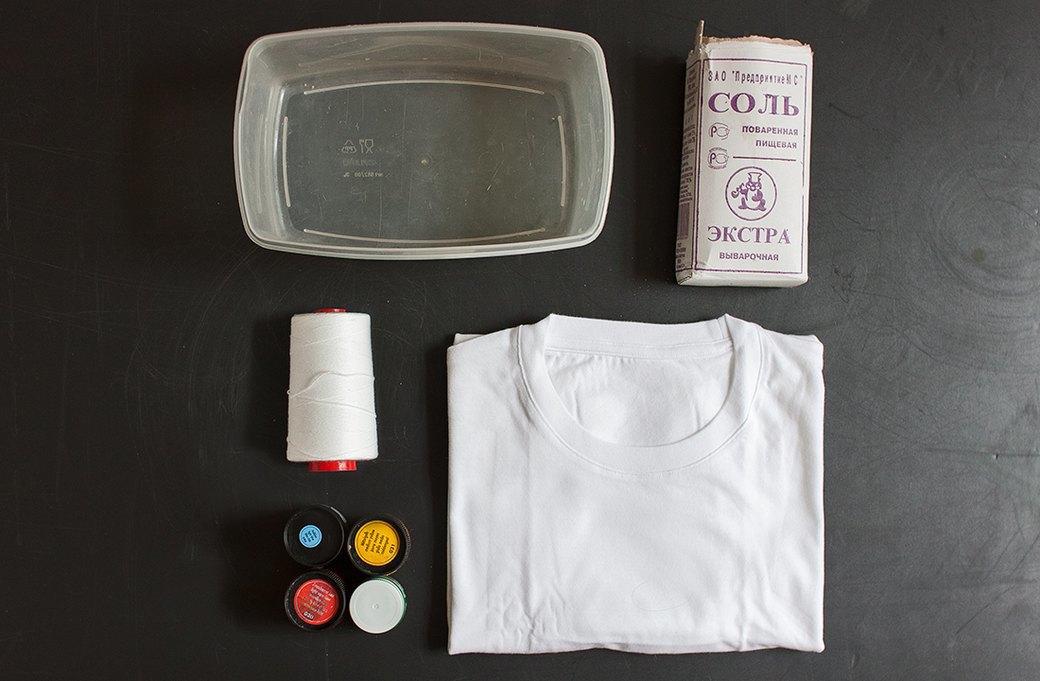 Как покрасить футболку техникой тай-дай. Изображение №1.