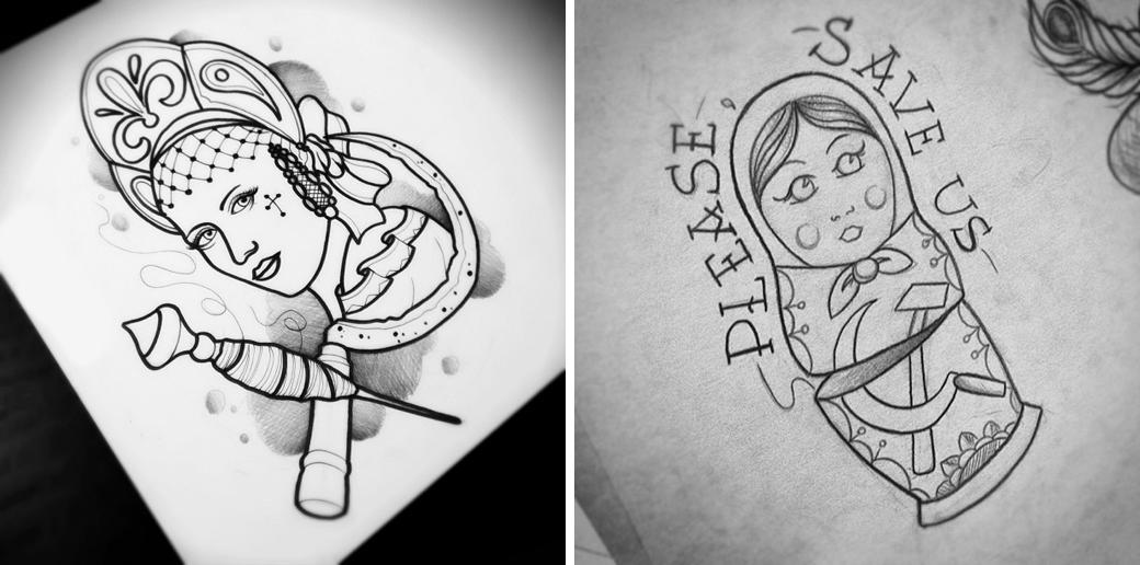 Русский народный олдскул: Традиционные татуировки на российский манер. Изображение № 3.