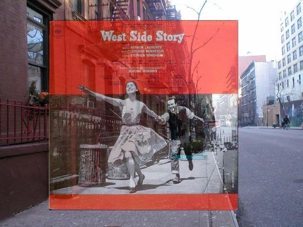 Американский фотограф наложил обложки известных альбомов на современные виды Нью-Йорка. Изображение № 10.