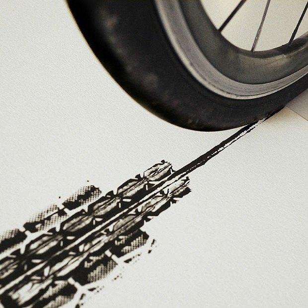 Сингапурский дизайнер нарисовал Эмпайр-стейт-билдинг при помощи велосипеда. Изображение № 4.