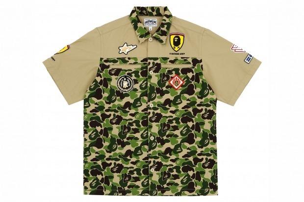 Марка A Bathing Ape и компания Ferrari представили совместную коллекцию одежды. Изображение № 1.