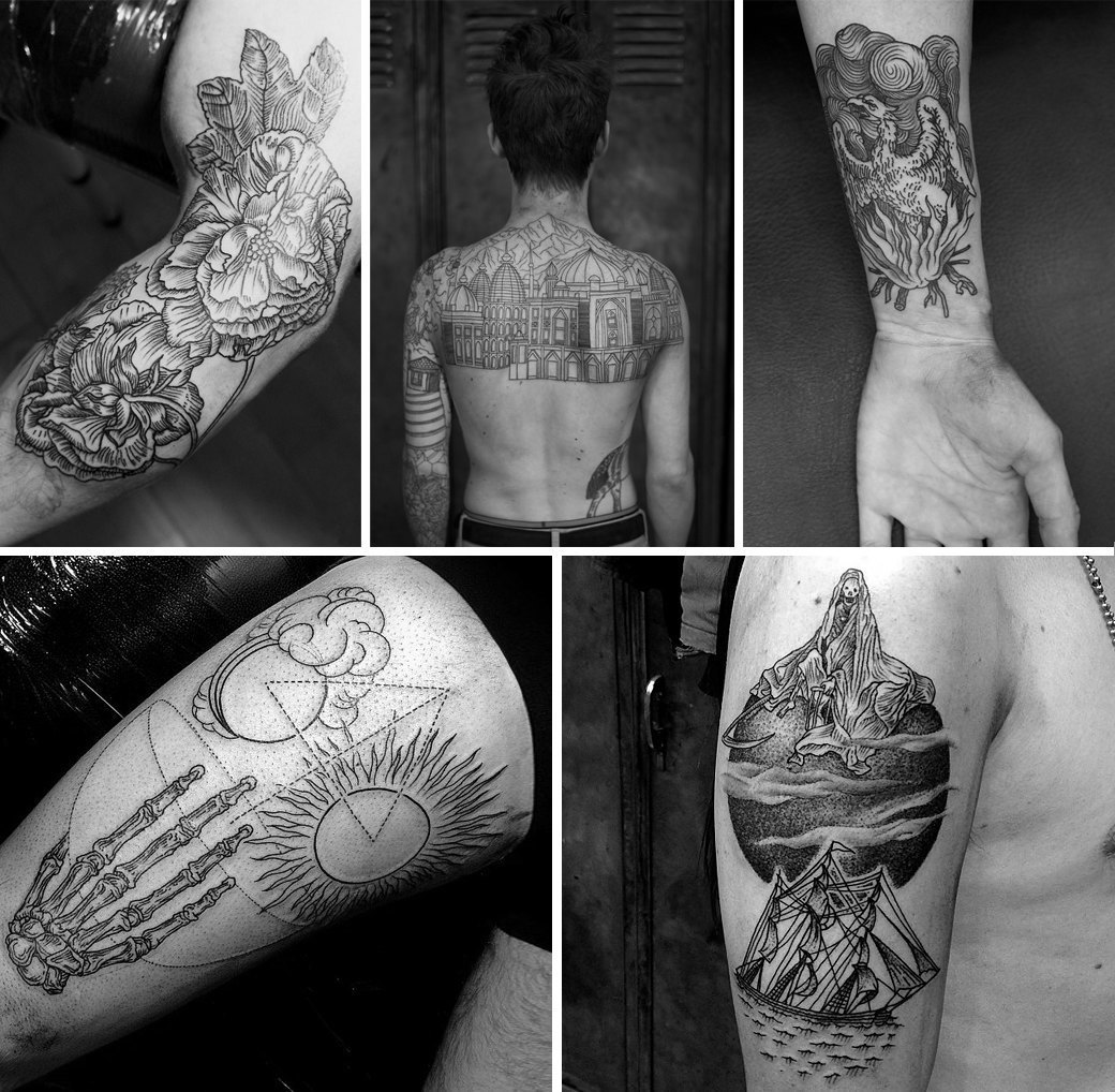 Гид по гравюрному стилю татуировок. Изображение № 5.