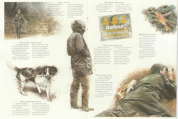 Разворот из каталога Barbour 1990-х годов. Изображение № 13.