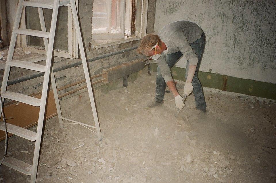 Фоторепортаж: Как мы сделали ремонт в мастерской силами редакции. Изображение № 2.