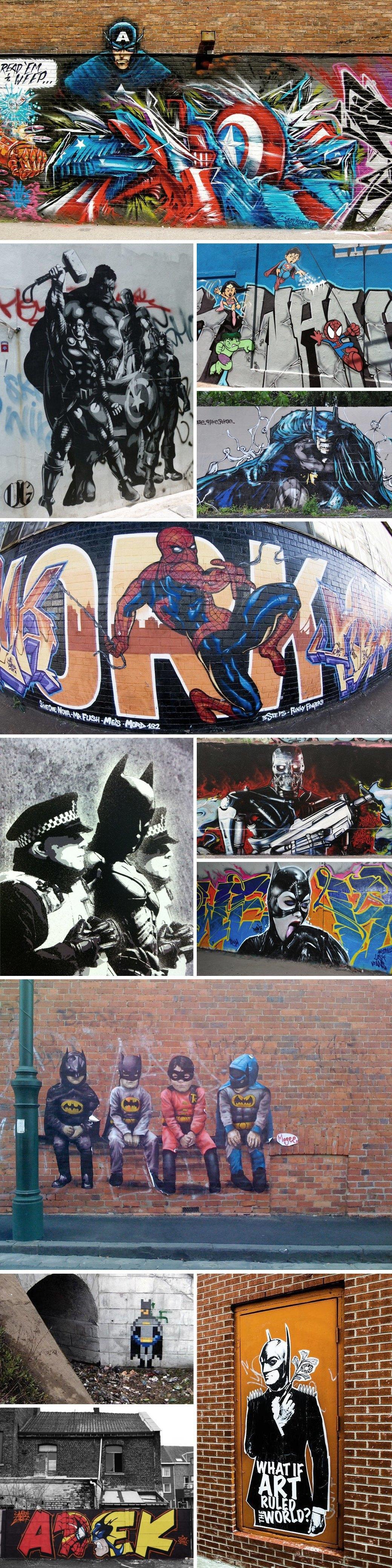 Герои комиксов в работах граффити-художников. Изображение № 1.
