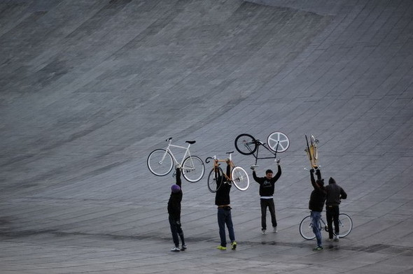 Fixed Gear Moscow на крыше «Олимпийского». Изображение № 33.