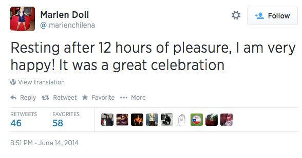 Порнозвезда пообещала 16-часовой секс-марафон в случае победы сборной Чили. Изображение № 2.