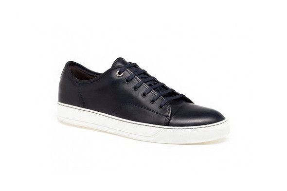 Lanvin Leather Low-Top Sneakers, €377. Изображение № 4.