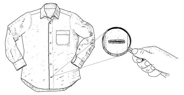 Внимание к деталям: Для чего нижняя петля на сорочках расположена горизонтально. Изображение № 2.