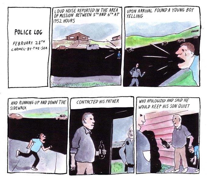 Police Log Comics: Абсурдные полицейские сводки в формате комиксов. Изображение № 28.
