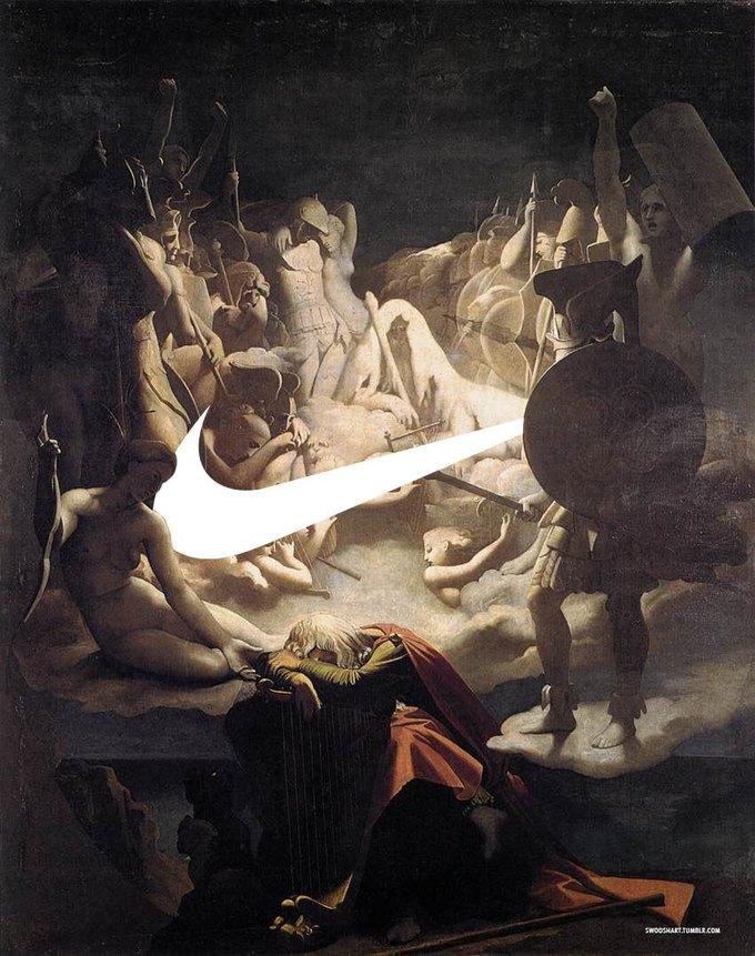 Swoosh Art: Эксперименты по объединению библейских сюжетов и легендарного логотипа . Изображение № 2.