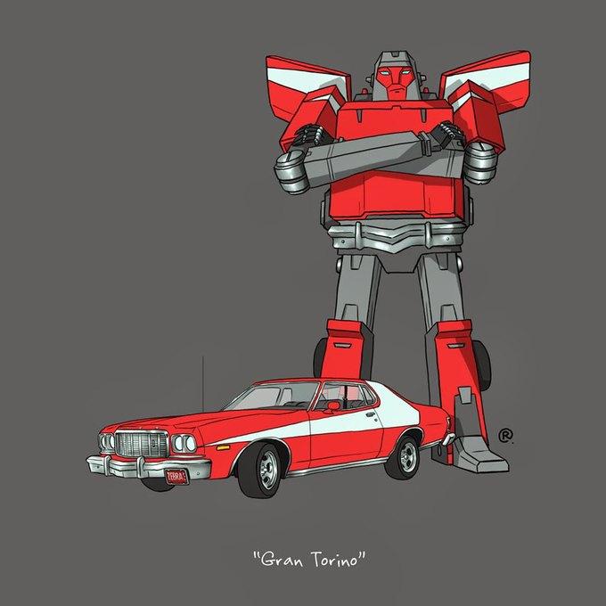 Даррен Роулингс: Если бы машины из культовых фильмов были трансформерами. Изображение № 6.