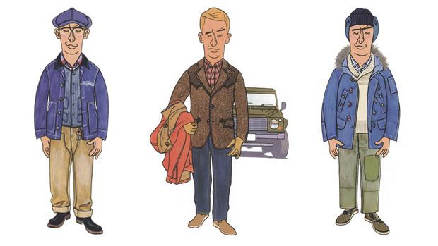 Статьи Free & Easy, посвященные какому-то предмету одежды, часто сопровождаются такими иллюстрациями, поясняющими, с чем лучше такую вещь сочетать. Изображение № 56.