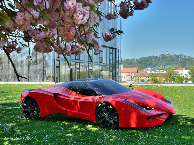 В Австрии сделали самый медленный в мире Ferrari. Изображение №1.