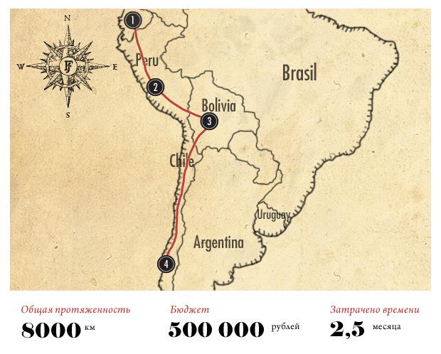 Как я выжил в холодных Андах: Путешествие по Южной Америке на велосипеде. Изображение № 2.