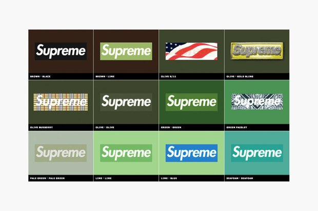 Магазин Kopbox собрал в архив все разновидности логотипа марки Supreme. Изображение № 6.