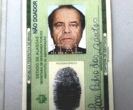 Бразилец был задержан за поддельный документ с фотографией Джека Николсона. Изображение № 1.