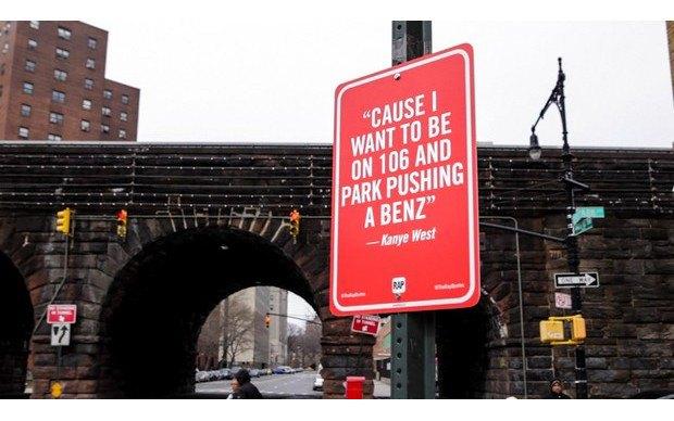 Нью-йоркский художник Джей Шеллс крепит к столбам таблички с рэп-цитатами. Изображение № 10.