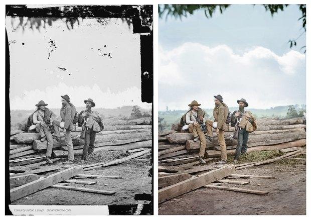 Опубликованы раскрашенные фотографии времен Гражданской войны в США. Изображение № 2.