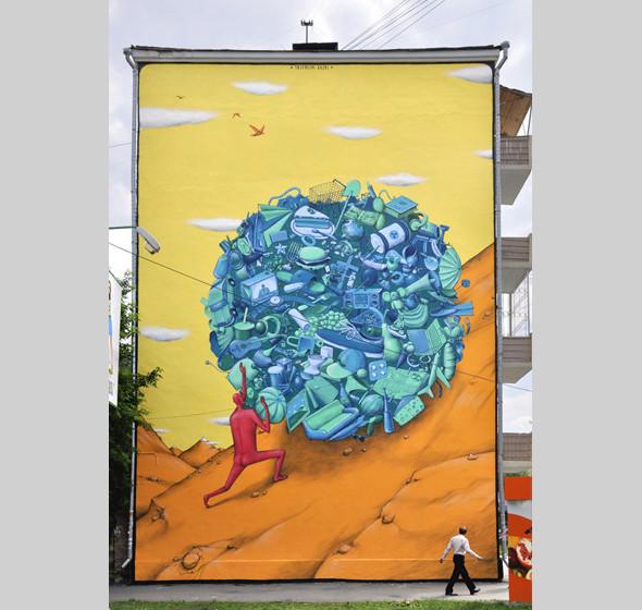 Скетчбук: Участники граффити-дуэта из Киева Interesni Kazki рассказывают о своих лучших работах. Изображение № 21.