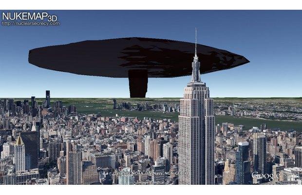 Американец создал симулятор взрыва атомной бомбы на картах Google Earth. Изображение № 3.