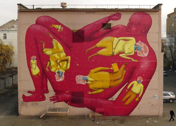 Скетчбук: Участники граффити-дуэта из Киева Interesni Kazki рассказывают о своих лучших работах. Изображение № 14.