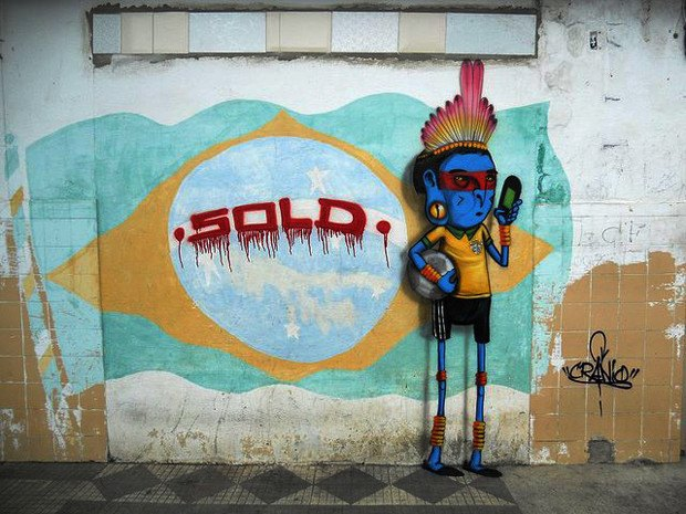 Такой футбол нам не нужен: Граффити против чемпионата мира. Изображение № 2.
