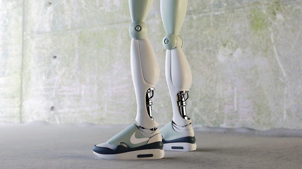 Как могли бы выглядеть кроссовки для гуманоидов?. Изображение № 1.