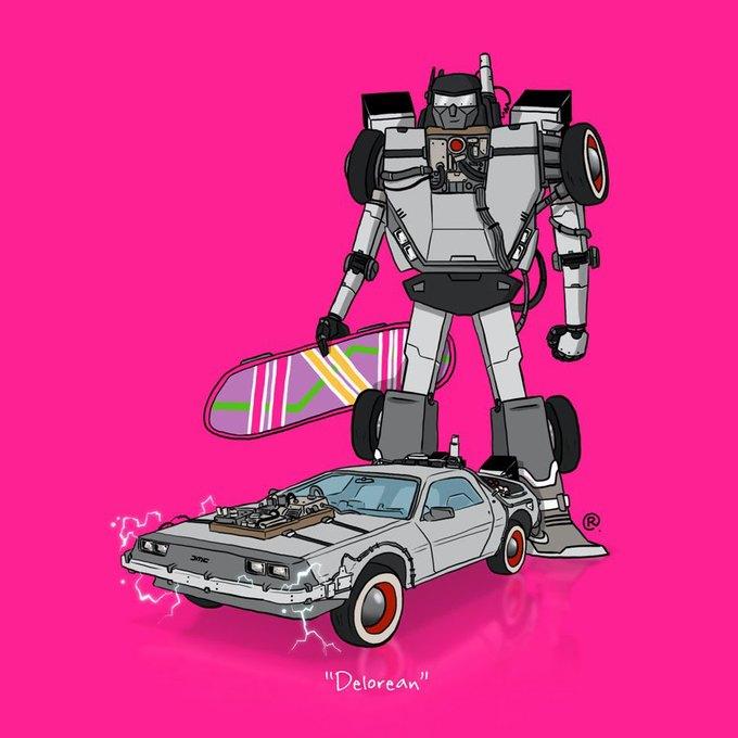 Даррен Роулингс: Если бы машины из культовых фильмов были трансформерами. Изображение № 12.