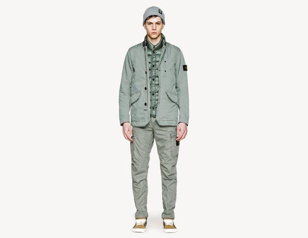 Марка Stone Island выпустила лукбук осенней коллекции одежды. Изображение № 1.