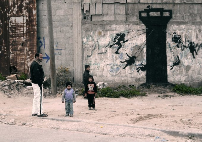 Бэнкси нарисовал граффити в секторе Газа. Изображение № 3.