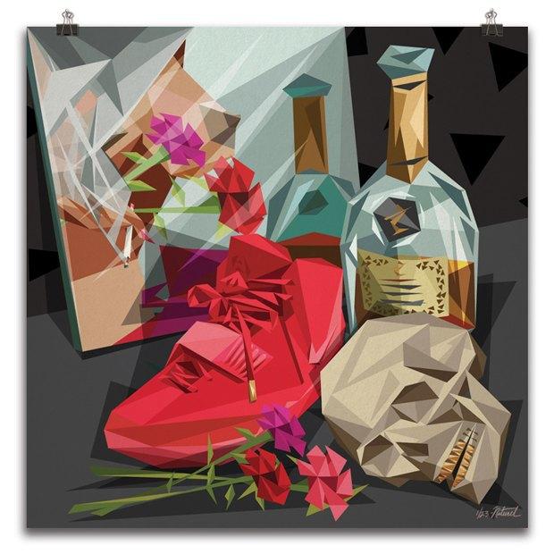 Burgundy: Живопись по мотивам песен Канье Уэста. Изображение № 1.