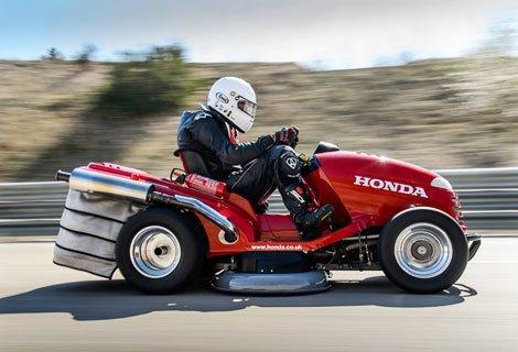Honda собрала газонокосилку, разгоняющуюся до 188 км/ч. Изображение № 2.