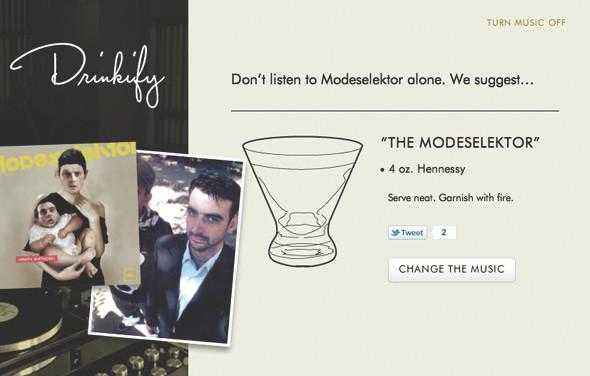 Сервис Drinkify поможет подобрать выпивку под любимую музыку. Изображение № 1.
