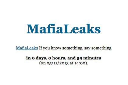 В Италии заработал сайт, собирающий утечки информации о мафии. Изображение № 1.