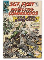 Кастом-байк на обложке комикса Marvel «Sgt. Fury and His Howling Commandos». Изображение № 3.