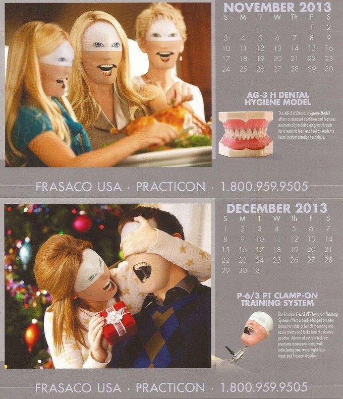 Стена плача: Худшие календари на 2014 год. Изображение № 55.
