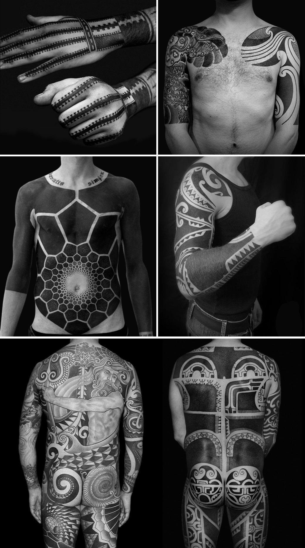 Черная работа: Путеводитель по блэкворку — уникальному стилю татуировок. Изображение № 1.