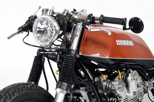 Мастерская Steel Bent Customs выпустила каферейсер на основе Honda CB750 . Изображение № 2.