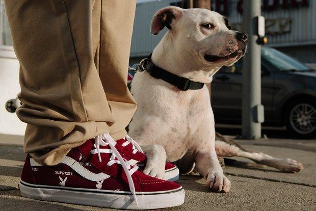 Марки Vans, Supreme и  Playboy выпустили совместную коллекцию обуви. Изображение № 1.