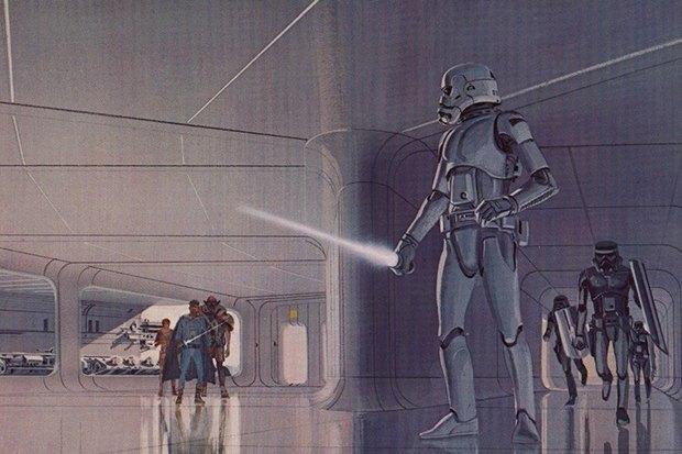 В сети появился оригинальный концепт-арт «Звёздных войн». Изображение № 13.