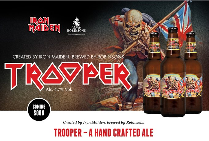Группа Iron Maiden представила свой собственный бренд пива Trooper. Изображение № 1.