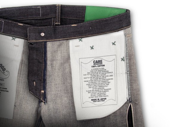 Японский бренд Neighborhood и пивоварня Heineken сшили совместную модель джинсов. Изображение № 10.