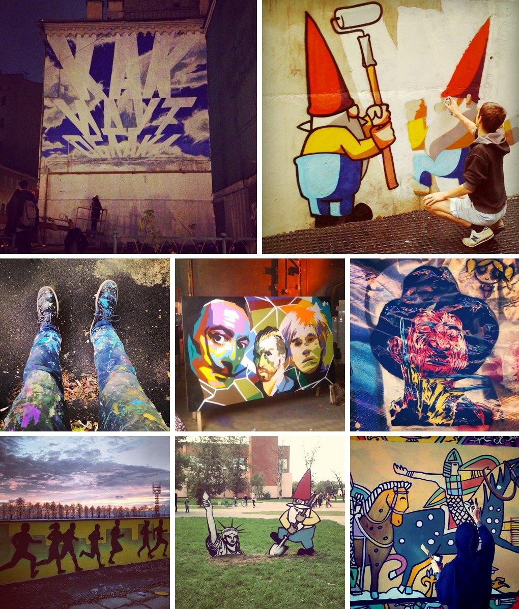 Что публикуют в своих Instagram российские граффити-художники. Часть первая. Изображение № 5.