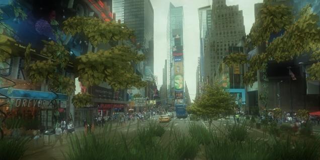 Швед разработал сервис, превращающий города на Google Street View в джунгли. Изображение № 1.