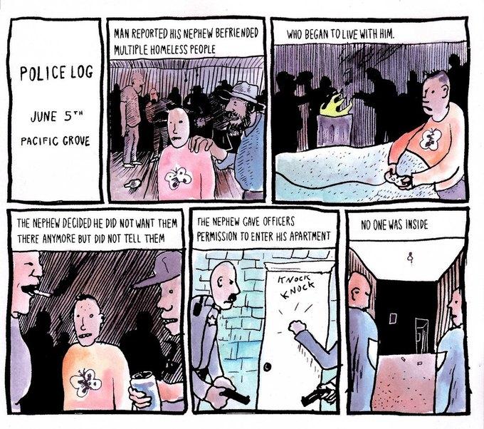 Police Log Comics: Абсурдные полицейские сводки в формате комиксов. Изображение № 20.