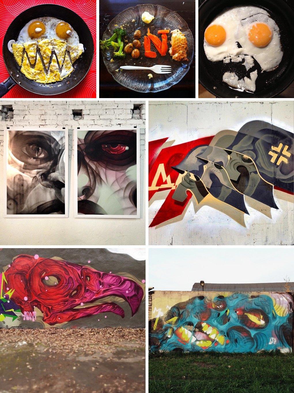 Что публикуют в своих Instagram российские граффити-художники. Часть первая. Изображение № 1.